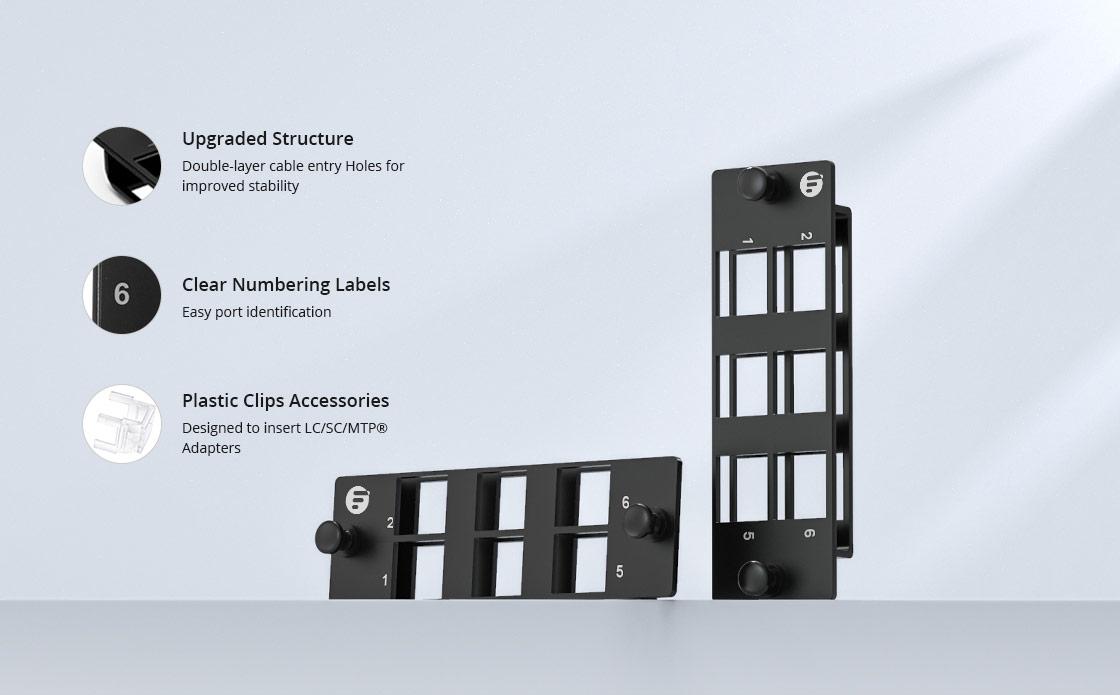 Paneles de Adaptadores Diseño modular para simplificar tu sistema de cableado