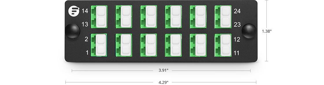 Fiber Optic Panels High Density Assemble Mounting - FHD Fiber Adapter Panel