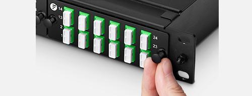 Fiber Optic Panels  4. Tool-less Installation with Plastic Rivets