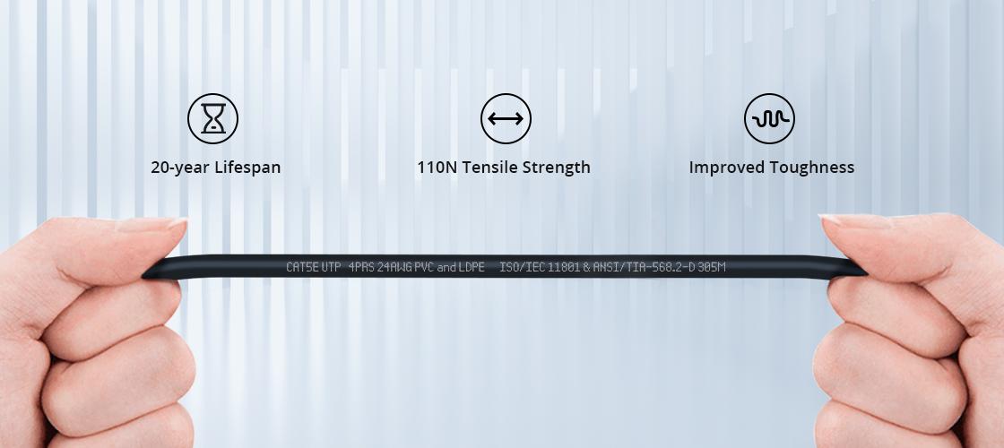Outdoor Direct Burial Bulk Ethernet Cables Super Stronger