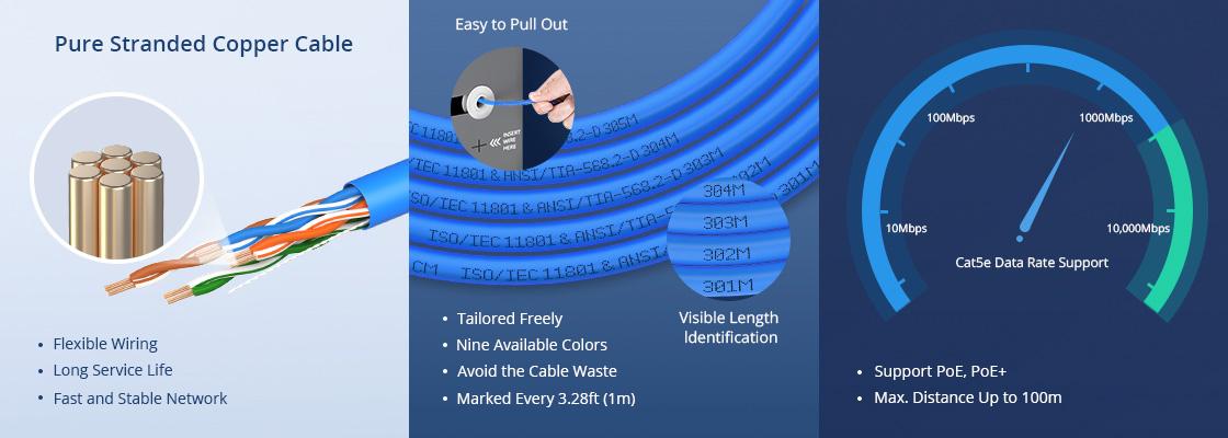 Cat5e Ethernet-Verlegekabel Zuverlässige Qualität und benutzerfreundliches Design