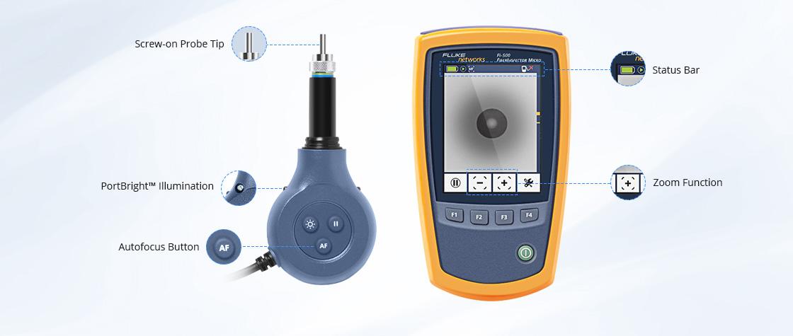 光ファイバ検査装置 FI-500 FiberInspector™マイクロファイバー検査スコープカメラの頑丈で耐久性のあるボディー