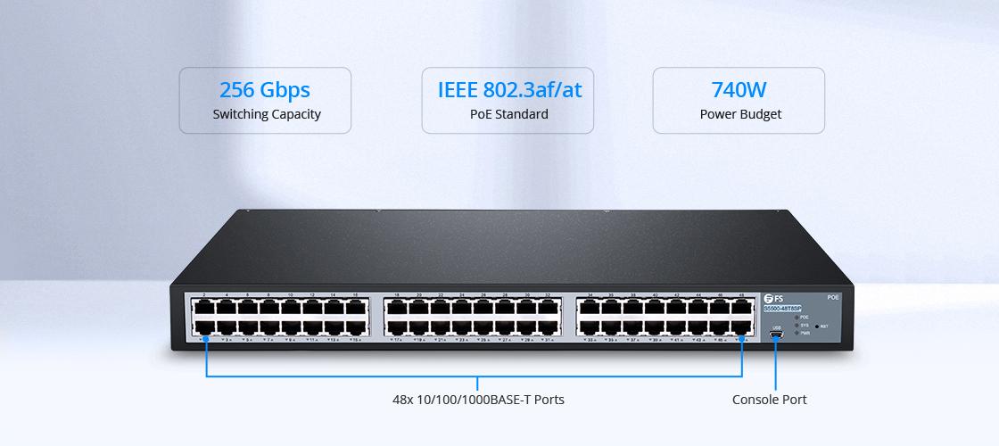 1G/10G Switches Gigabit Switch with High Speed 10G Uplink