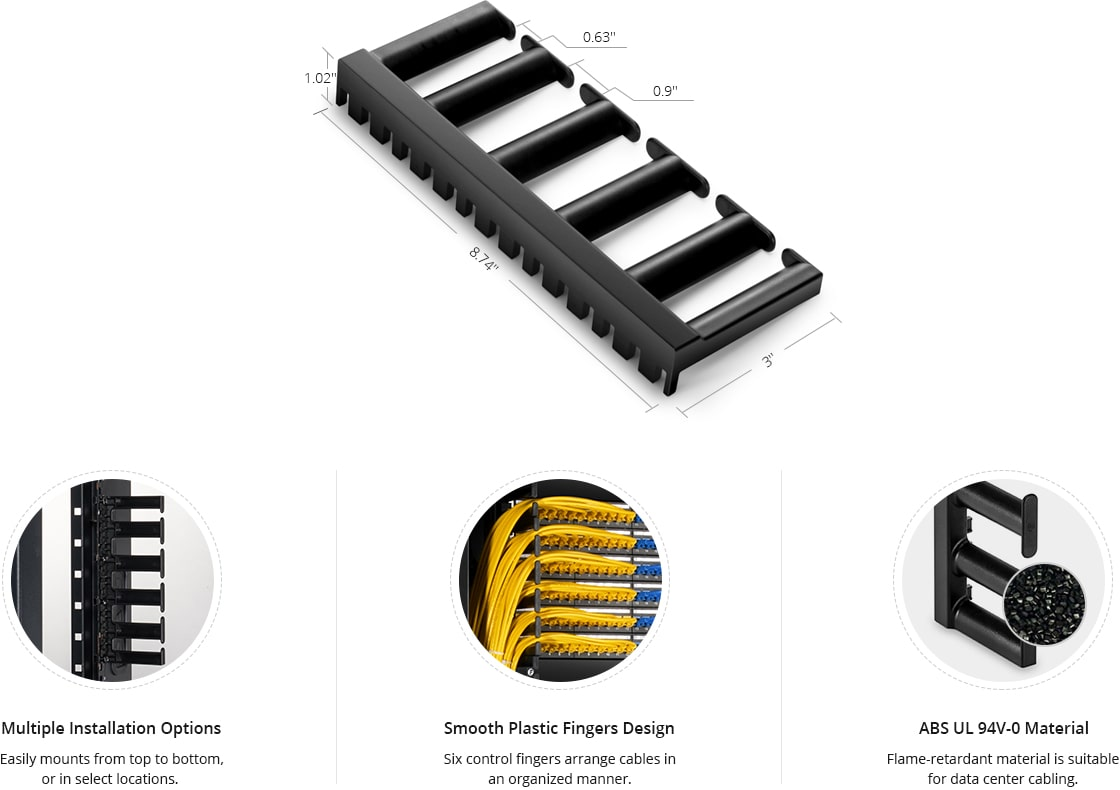 Vertical Cable Managers 5U 3'' Deep Vertical Cable Manager