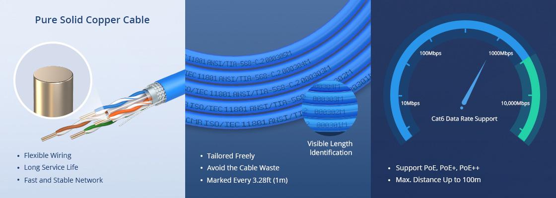 Bobinas de cable de red cat6 De alta calidad y fácil de usar