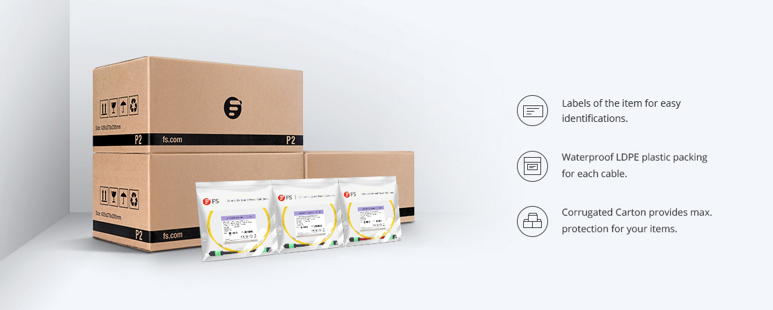 MTP®/MPO  Trunk Cables Eco-Friendly Packaging & Labeling
