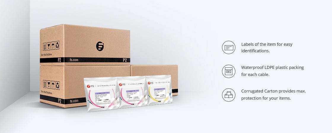 Câbles Breakout MTP®/MPO-LC Emballage & Étiquetage Écologiques