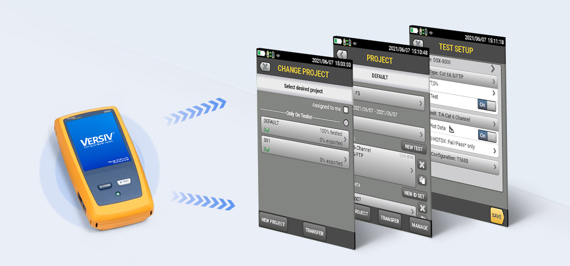 Network Cable Testers ProjX™ Management System Manages Complex Jobs with Ease
