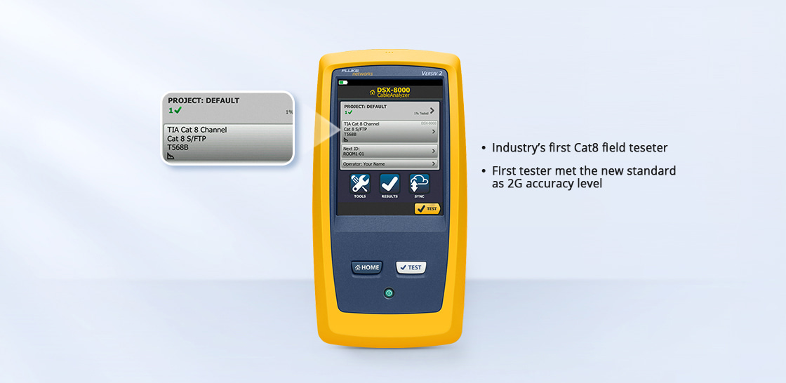 Network Cable Testers Unmatched Speed for Cat 6A, 8, Class FA, I/II and All Current Standards
