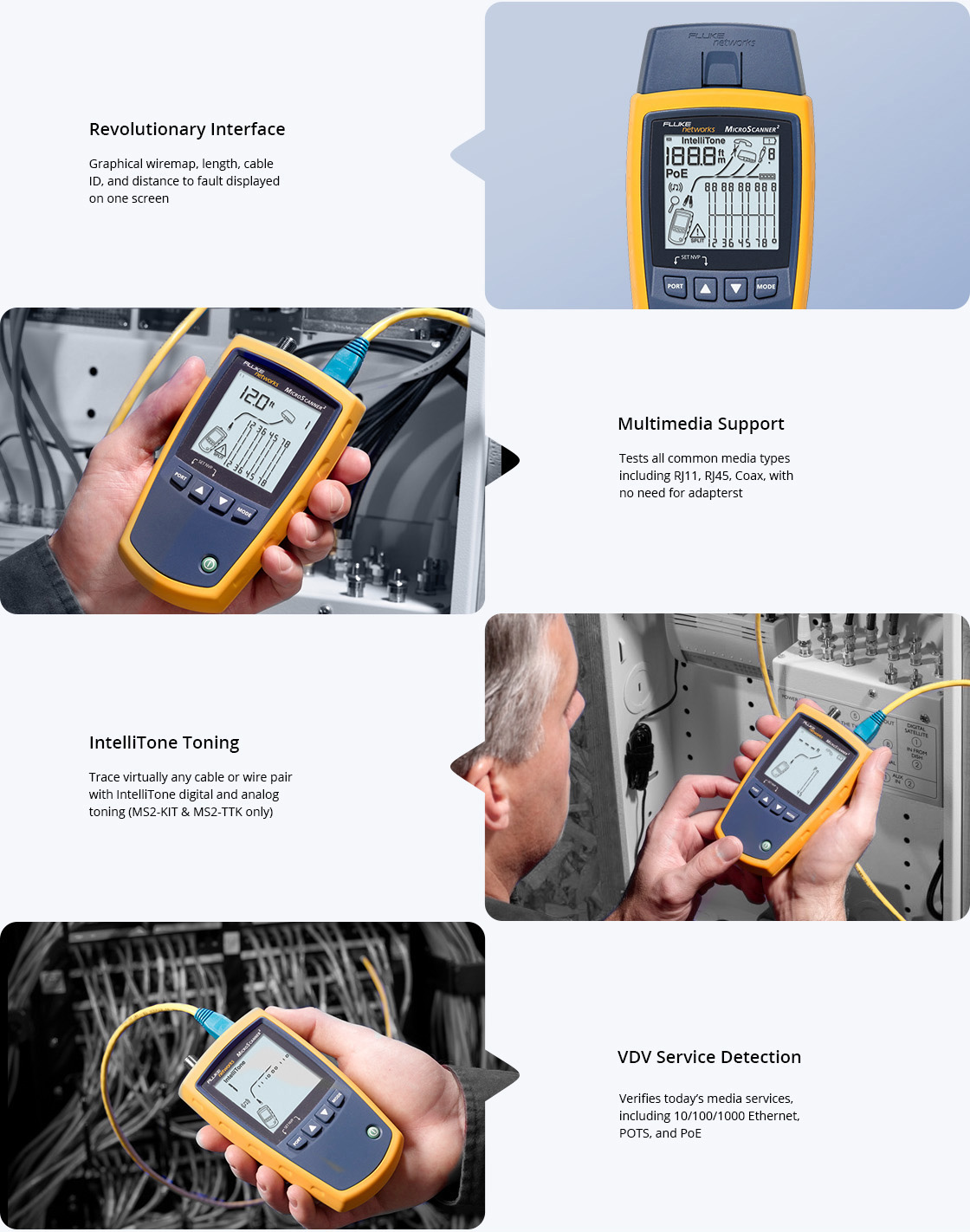 Network Cable Testers High Power Vision into Voice/Data/Video Cabling