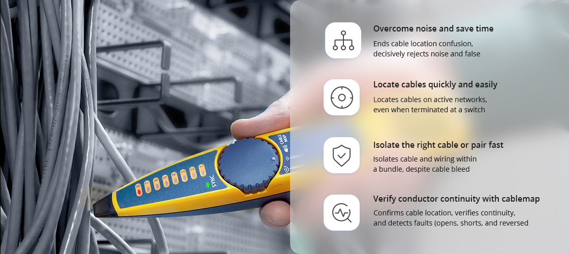 Network Cable Testers IntelliTone Digital Toning Technology