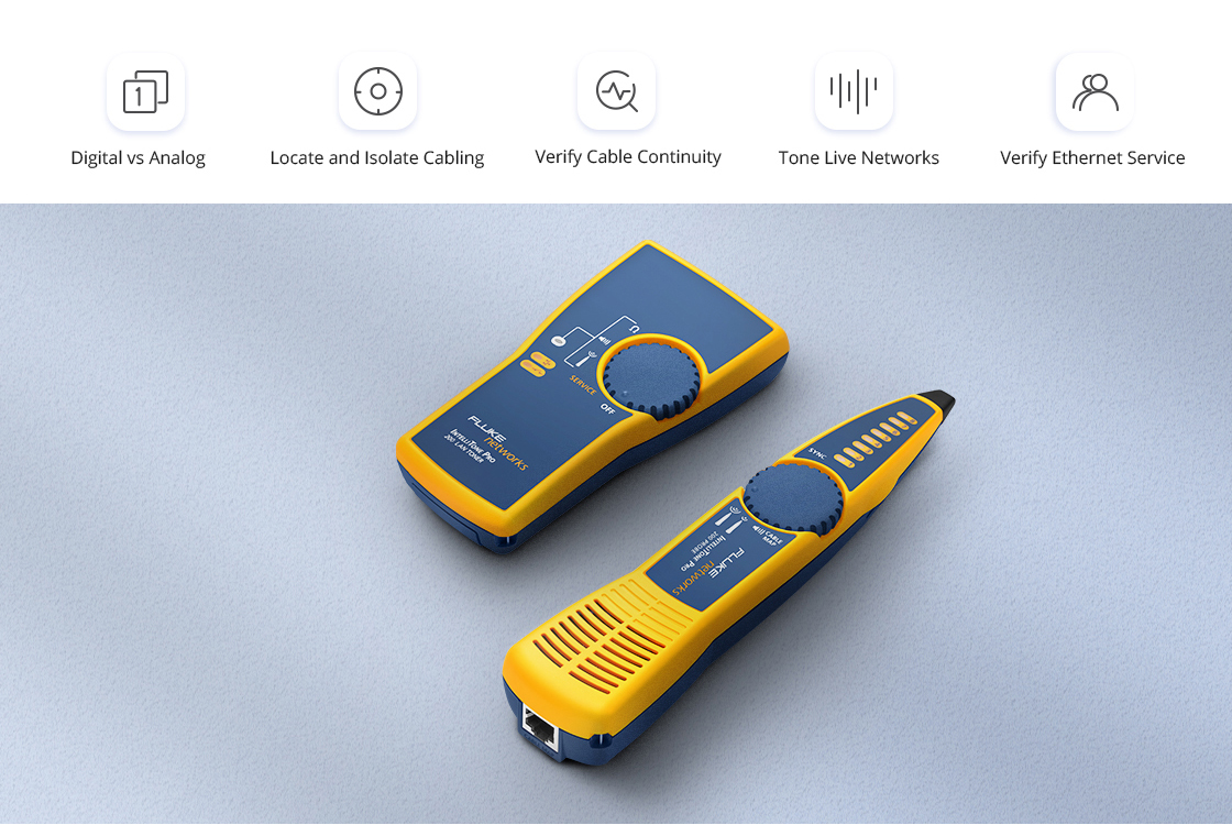 Network Cable Testers Breakthrough Digital and Analog Toning in One
