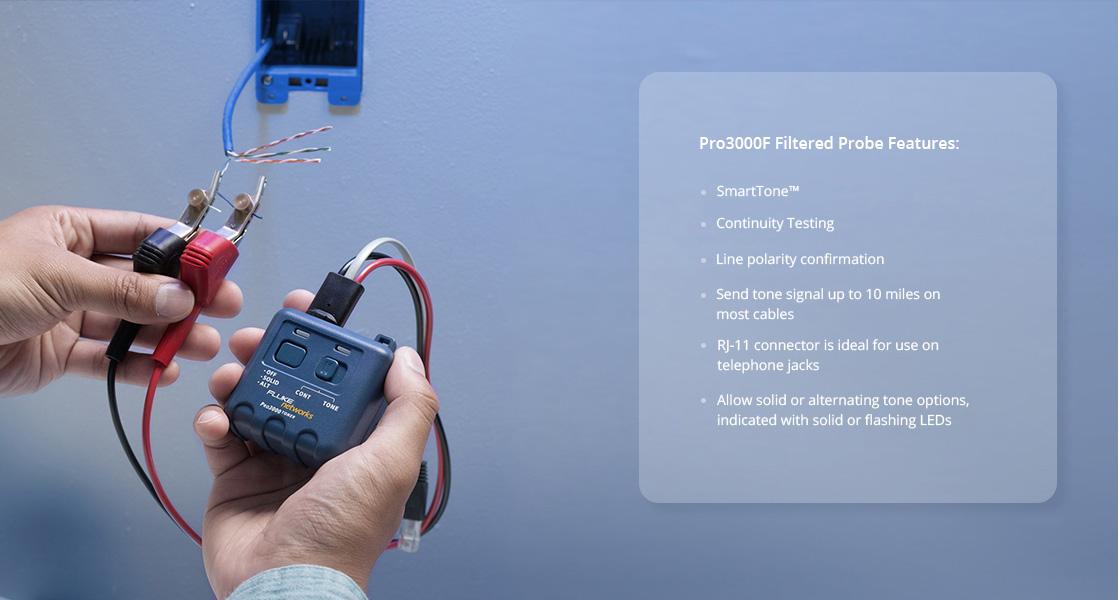ネットワークケーブルテスター ペアーを正確に識別できるための正確 - SmartTone™ 技術