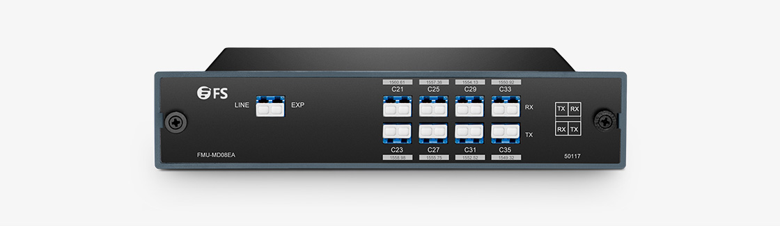 DWDM Mux Demux Mux/Demux 8 Channels over Single Fiber in a Pair