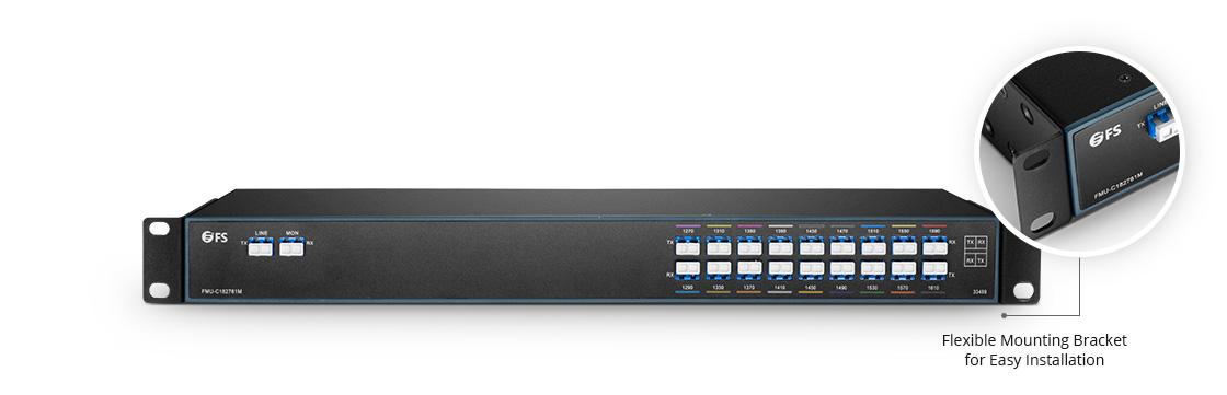 CWDM Mux Demux Mux/Demux 18 Channels over Dual Fiber