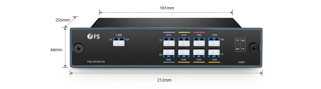 CWDM Mux Demux Mux/Demux 8 Channels over Dual Fiber