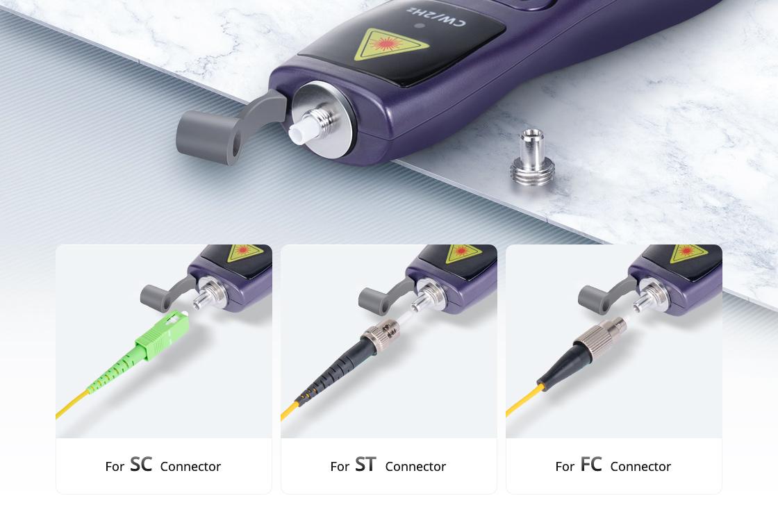 Localizadores visuales de fallas Adaptador universal de 2,5mm integrado y núcleo de cerámica