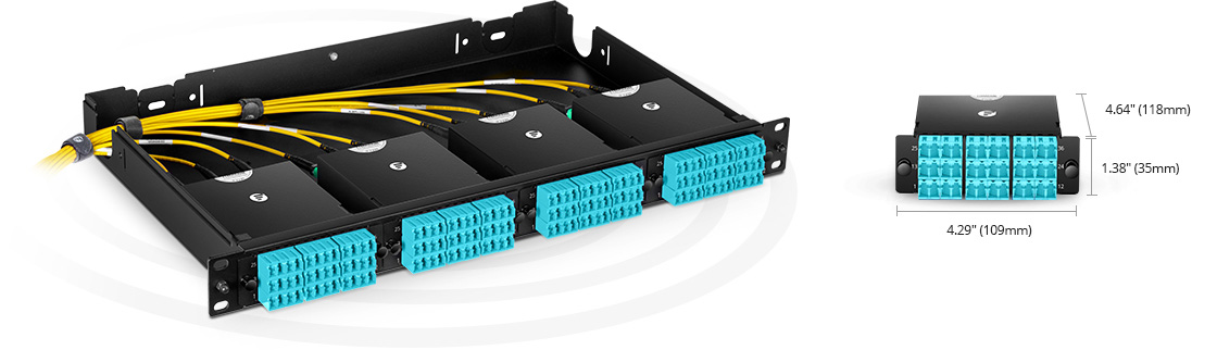 MTP®/MPO Fibre Cassettes Rapid Deployment in Ultra High Density Applications