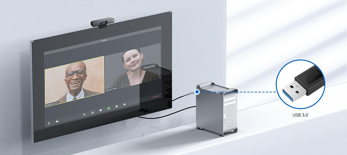Cámaras para videoconferencia USB Plug and Play, fácil de conectar