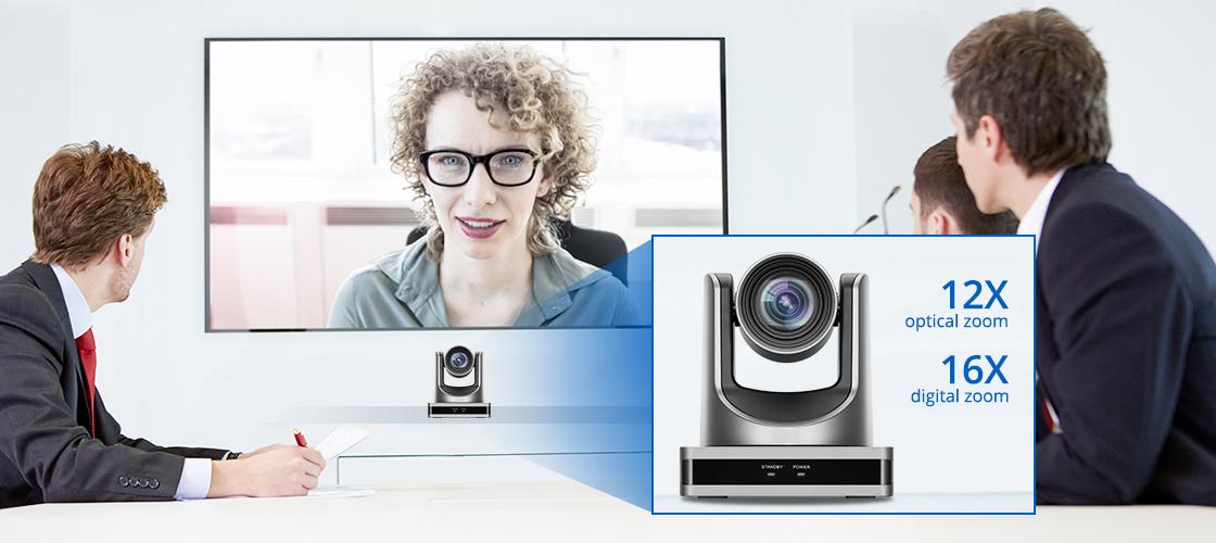 Cámaras para videoconferencia Cámara PTZ con zoom HD sin pérdidas 12X