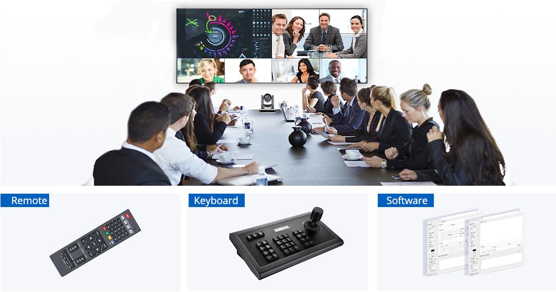 Cámaras para videoconferencia Múltiples métodos de control y elección de software compatible