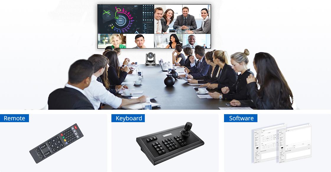 Konferenzkamera Mehrere Steuerungsmethoden und kompatible Software