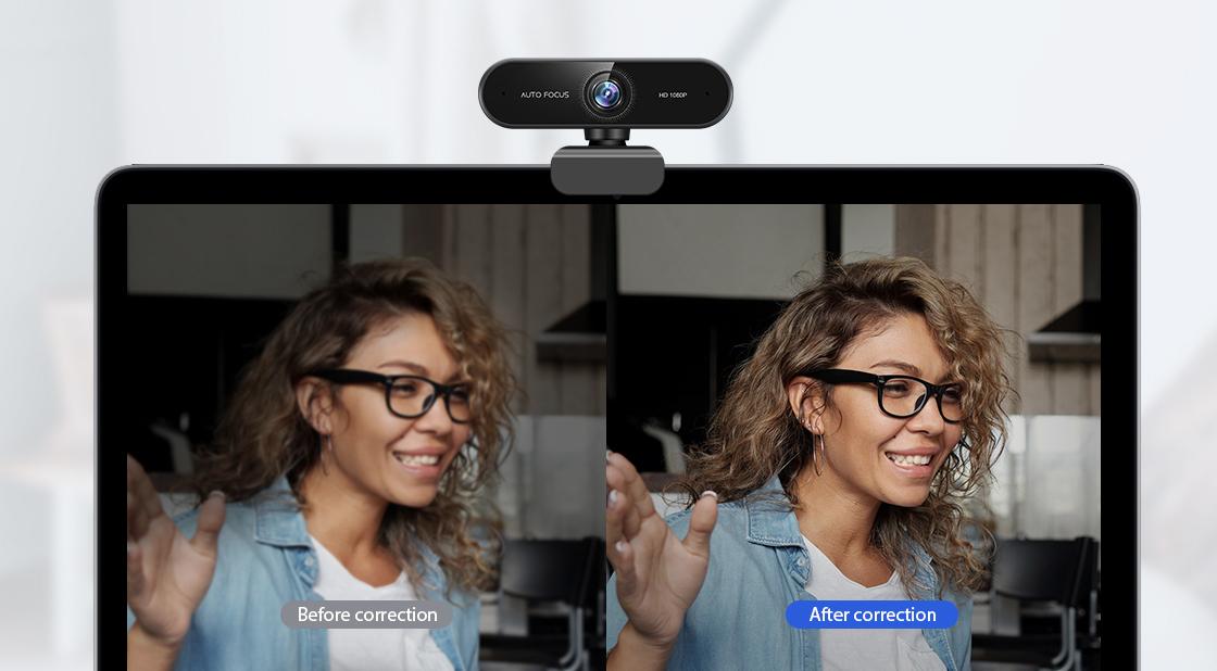 Webcam Automatische Low-Light-Korrekturtechnologie