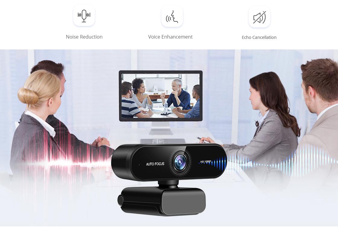 Webcam VoiceIA™-Algorithmus gewährleistet Kommunikation mit außergewöhnlicher Klarheit