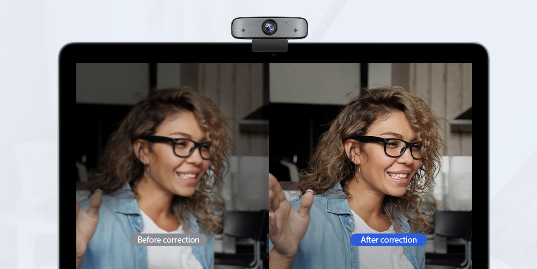 Webcams Smart Low-light Correction Technology