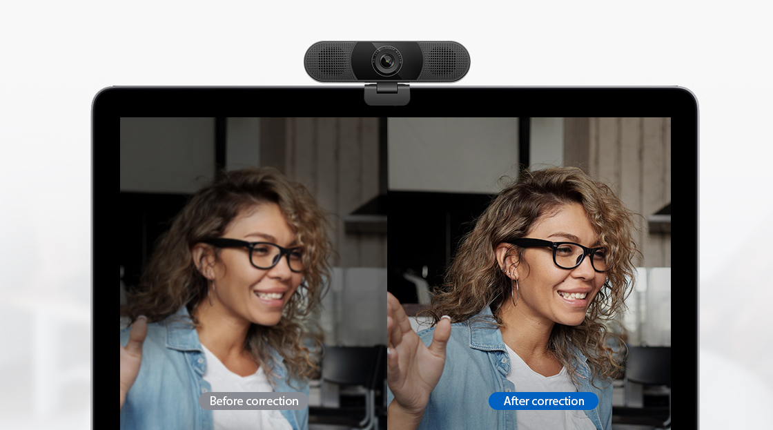 Webcams Automatic Low-light Correction Technology
