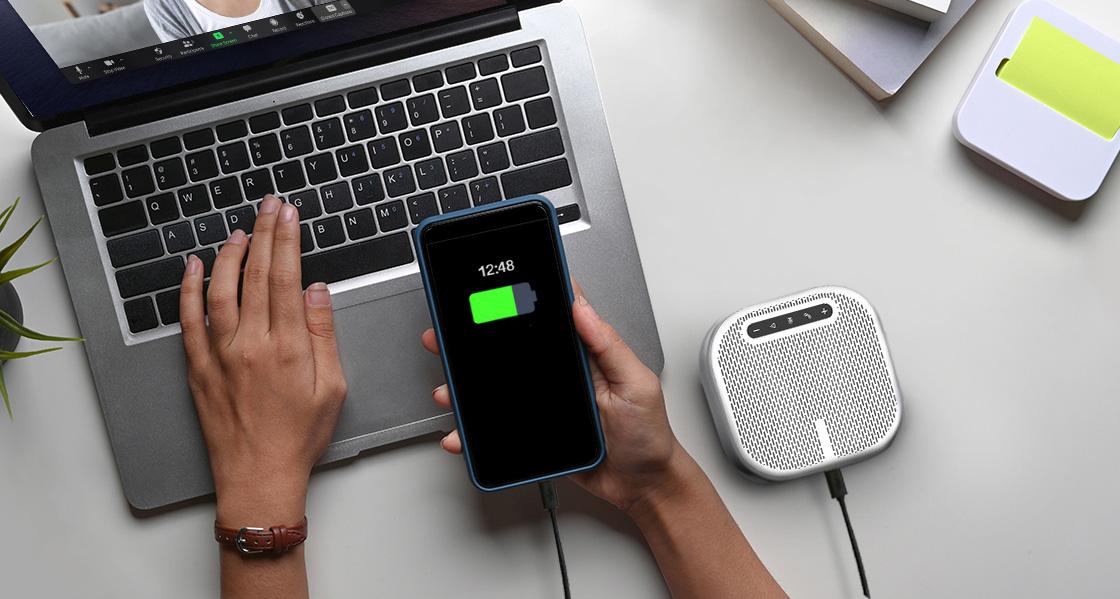 Micrófono para videoconferencia Carga tu dispositivo a una velocidad optimizada