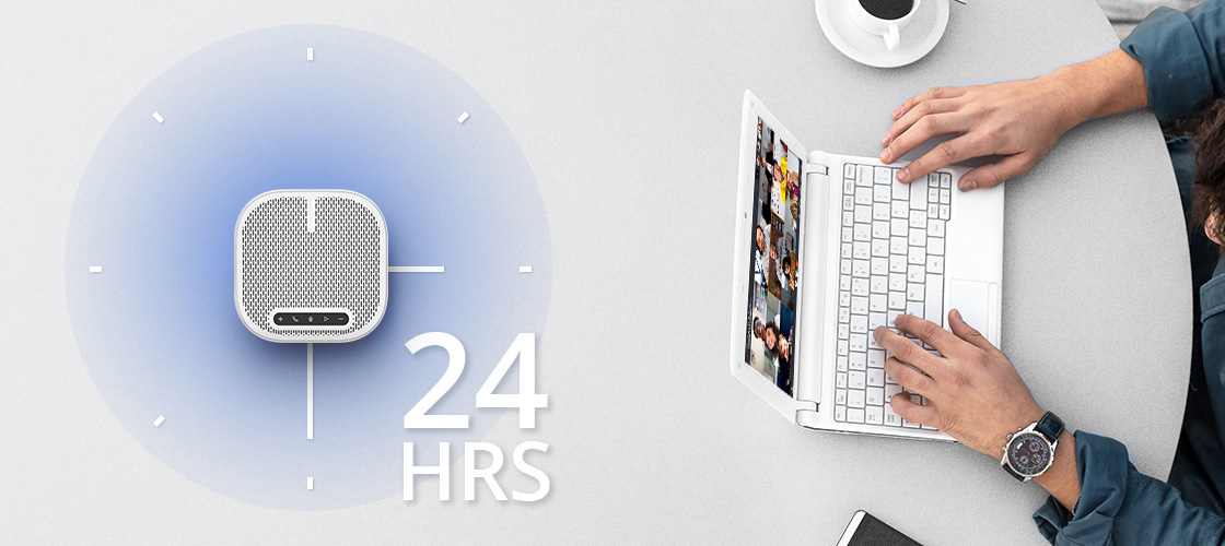 Micrófono para videoconferencia La batería incorporada de 6500mAh admite 24 horas de tiempo de llamada