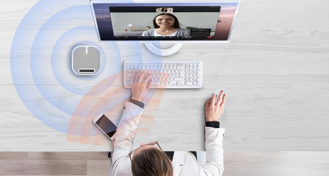 Micrófono para videoconferencia Audio de calidad empresarial para reuniones más productivas