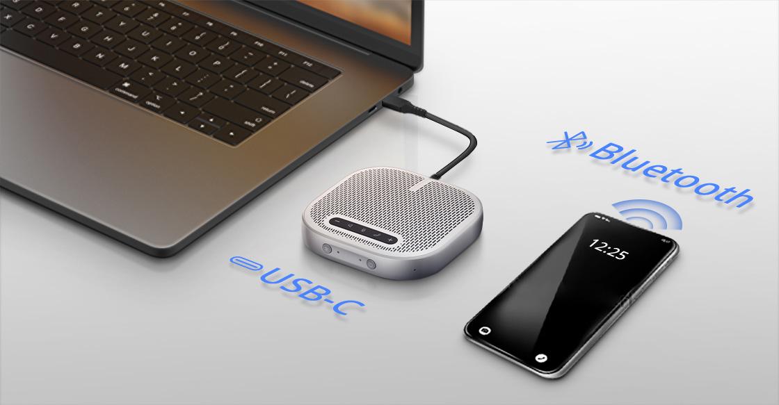 Micrófono para videoconferencia Se conecta de forma instantánea y perfectamente portátil para conferencias de audio de forma gratuita