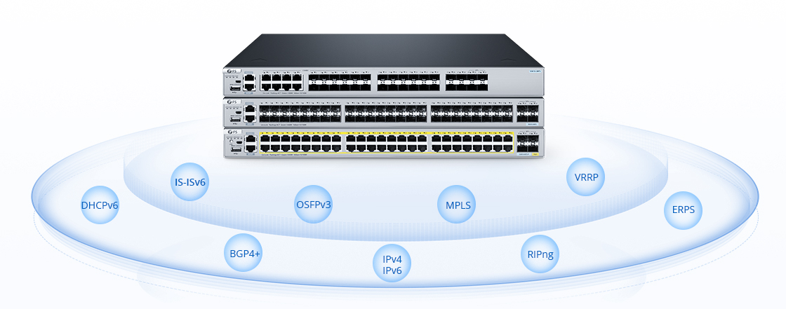 1G/10G Switches Enhanced Layer 3 Protocols for Diverse Scenarios