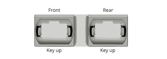 Fibre Adapters/Couplers Aligned Key Orientation