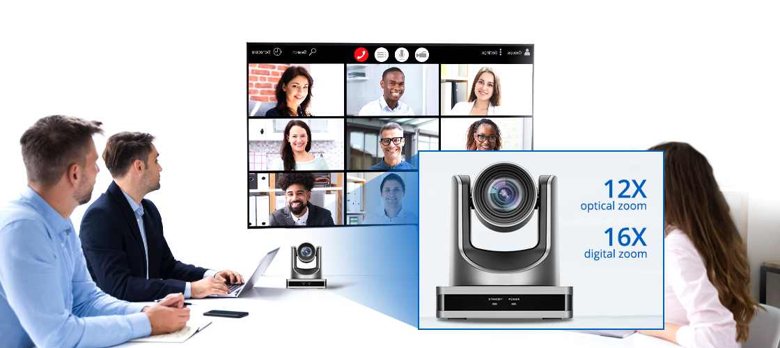 Conference Cameras PTZ Camera with 12X Lossless HD Zoom