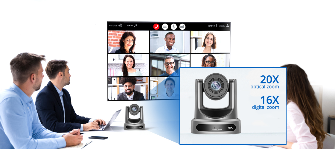 Conference Cameras PTZ Camera with 20X Lossless HD Zoom