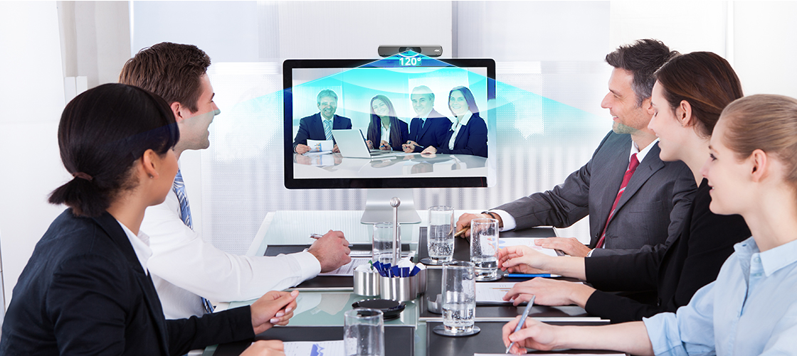 Conference Cameras Capture Everyone in the Room with a 120° Wide Angle