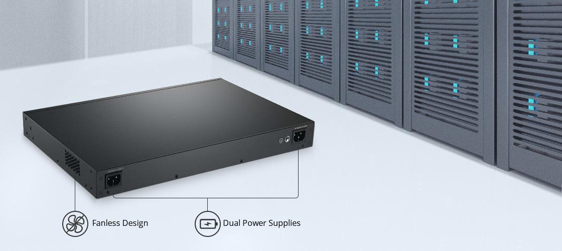 Switches 1G/10G Diseño silencioso y sin ventilador