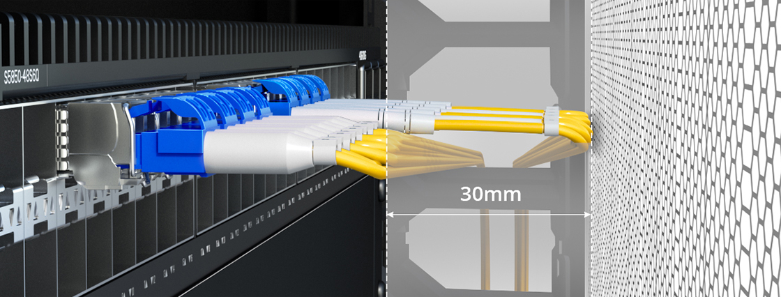 Customised Fibre Cables 30mm Space Saving in Tight Space