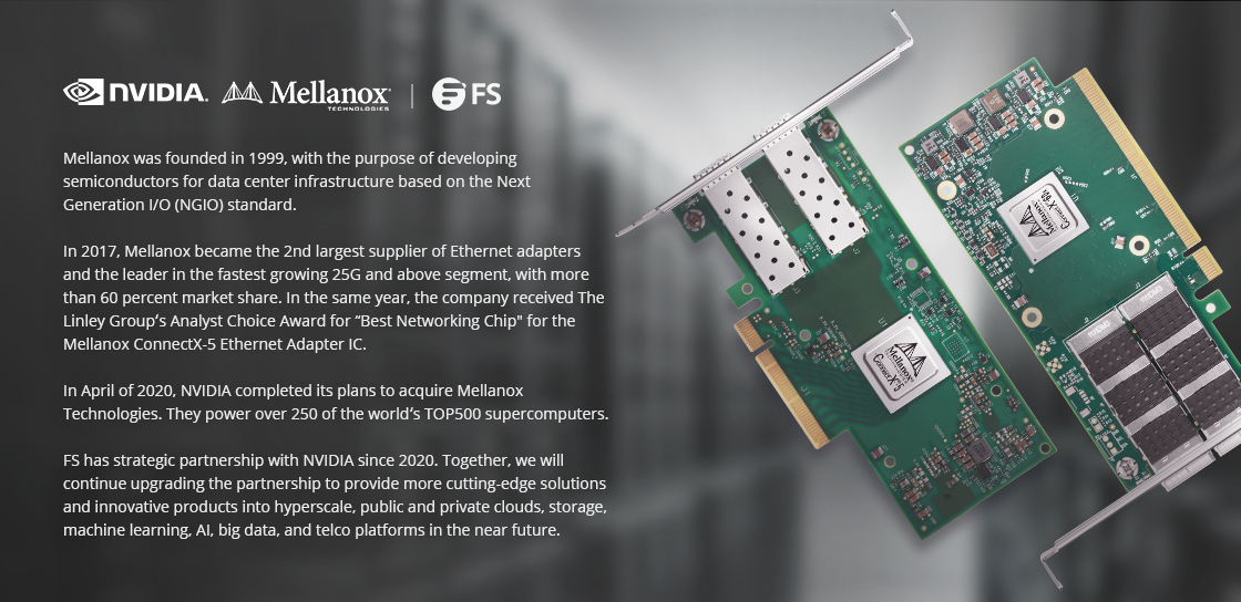Mellanox® Ethernet Adapters ConnectX SmartNICs Deliver Unparalleled Performance and Efficiency