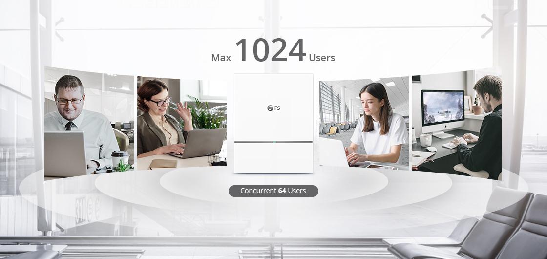 Wireless AP Bis zu 1024 Geräte anschließbar