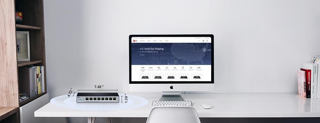 Switches 1G/10G Diseño compacto crea la oficina de tus sueños