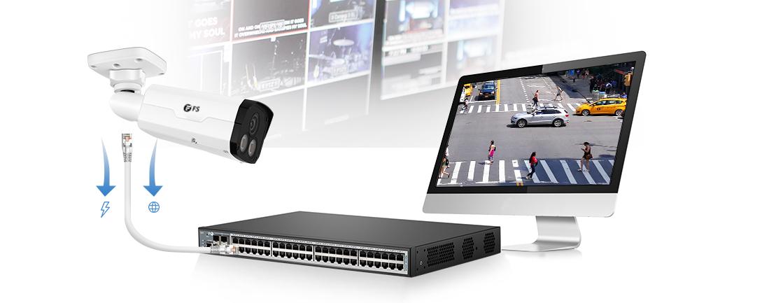 Cámaras CCTV Conexión PoE Plug-and-Play