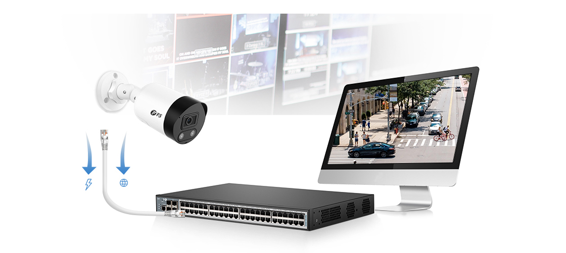 Network Cameras Plug-and-Play PoE Connection