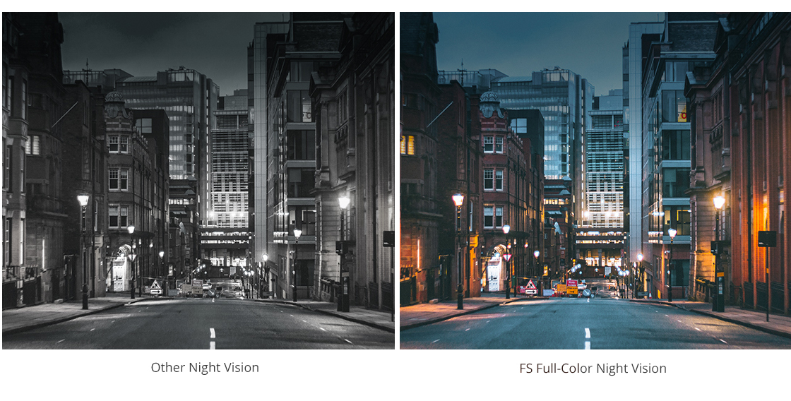 Network Cameras Full-Color Images Even in Total Darkness