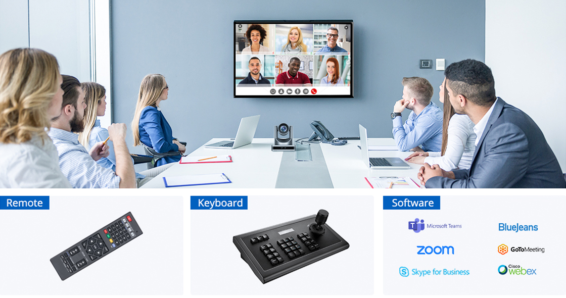 Conference Cameras Multiple Control Methods & Compatible Softwares Choice