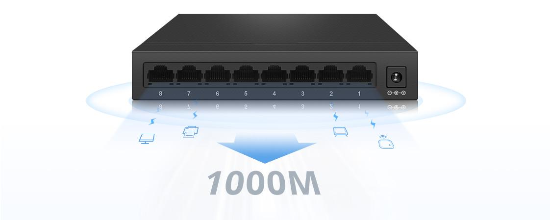 1G/10G Switches All Gigabit Ports, Enjoy High-Speed Networking