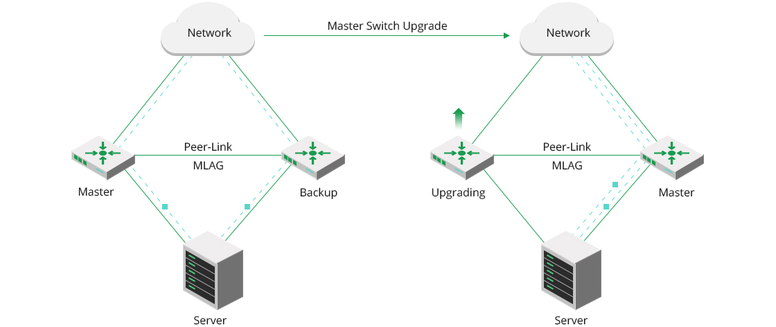 100G Switches MLAG Realizes Uninterrupted Services